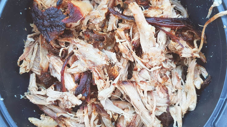 Fertiges Pulled Pork aus dem Backofen