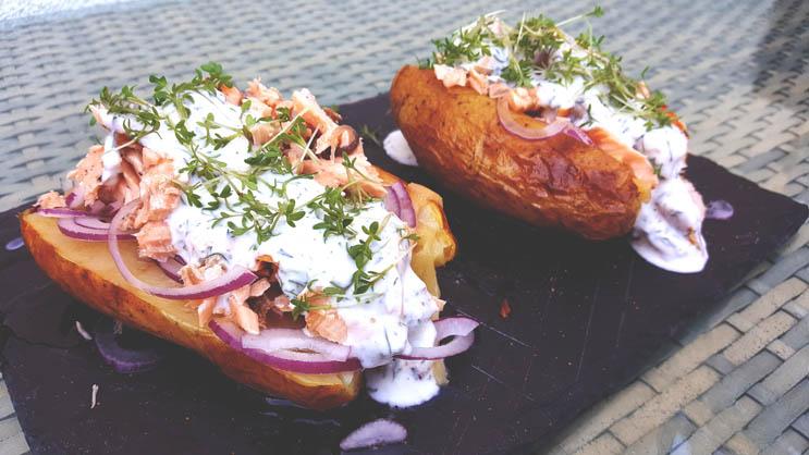 Pulled Lachs Ofenkartoffel